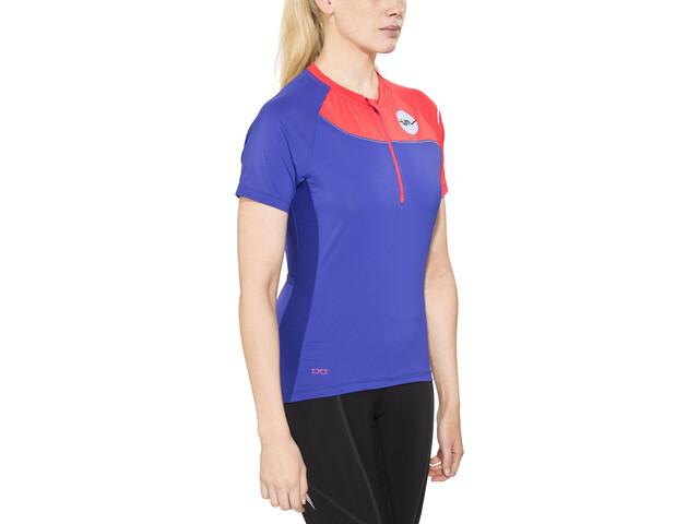 ION Venta T-shirt halve rits Dames, sea blue